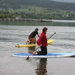STAND UP PADDLE BOARDING IN VERNON, BRITISH COLUMBIA, CANADA