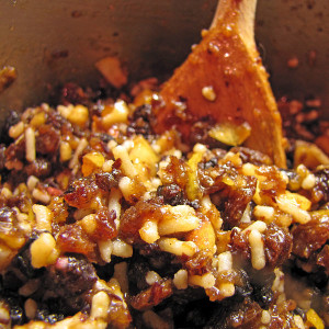 Mixing mincemeat for mince pies (Picture by Stuart Caie)