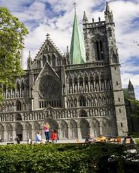 The Nidaros Cathedral in Trondheim, Norway. St.Olaf is said to be buried underneath.