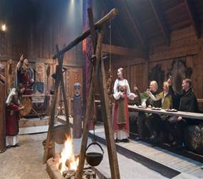 Feast at the Lofotr Viking Museum in Norway