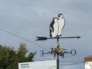 Penguin weather vane