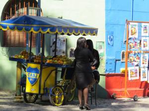 Street food at La Boca