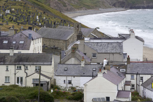 The village of Aberdaron on the Llyn Peninsula, Gwynedd, North Wales.