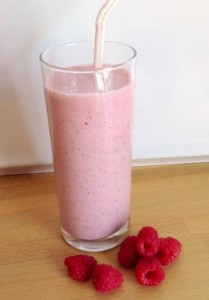 Raspberry refresher shake