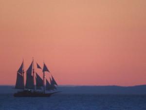 Sunset boat trip