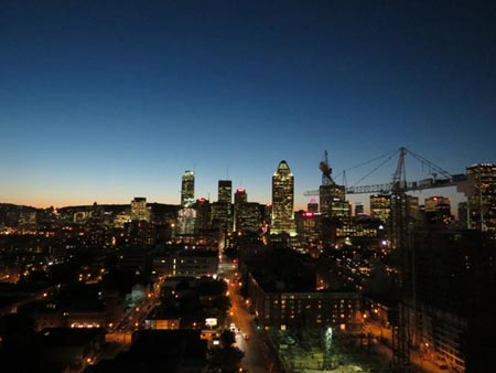 P-author - Montreal skyline from ALT Hotel