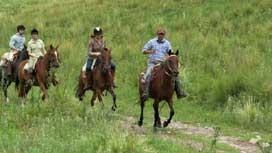 Gaucho horse riding