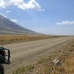 Lengai Volcano road
