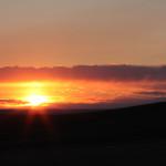 Sunset in Badlands