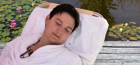 P-sleeping woman