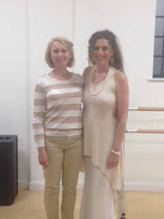 Sarah Alexander and Tanishka