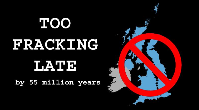 FRACKING IN UK WILL NOT WORK